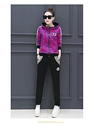 спортивная одежда досуг костюмы мс. весна 2017 новый стильный спортивный костюм с капюшоном кардиган печать два