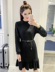Sign in spring 2017 Korean version of easing pressure pleated skirt was thin wild bottoming long paragraph flounced waist jumpsuit