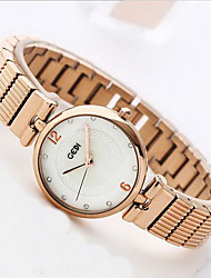 Women's Fashion Watch Water Resistant / Water Proof Japanese Quartz Alloy Band Cool Casual Luxury Rose Gold
