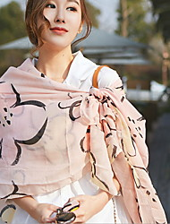 Flower Chiffon Lace Scarves Female Long Scarf Sunscreen Silk Thin Shawls Rectangle Print
