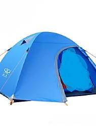 3-4 personnes Double Une pièce Tente de campingRandonnée Camping Voyage-