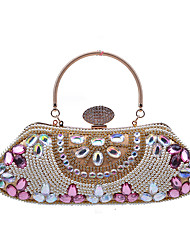 L.WEST Women's Luxury High-grade Manual Embroider Bead Pearls Diamond Evening Bag