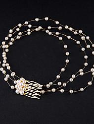 Perle Cristal Casque-Mariage Occasion spéciale Serre-tête Peigne Chaîne pour Cheveux Accessoires pour Cheveux 1 Pièce