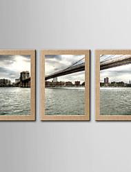 Estampados Fotográfico Famoso Paisagem Realismo,3 Painéis Panorâmico Vertical Impressão artística Decoração de Parede For Decoração para