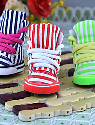 Cat Dog Shoes & Boots Cute Sports Classic Fashion Casual/Daily Birthday Wedding Reversible Stripe Fabric