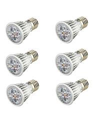 Youoklight 6pcs e26 / e27 5w 400-450lm ac85-265v 5 * cob led riflettore bianco caldo 3000k - argento