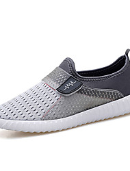 Men's Loafers & Slip-Ons Spring Fall Comfort Couple Shoes Tulle Casual Magic Tape Gray Dark Blue Black