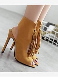 Women's Heels Comfort Suede Casual Stiletto Heel