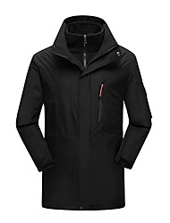 Men's 3-in-1 Jackets Waterproof Thermal / Warm Windproof Dust Proof Breathable Double Sliders 3-in-1 Jackets Winter Jacket for Skiing
