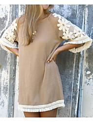 Aliexpress 2016 femmes de style européen&Robe courte en crochet à lacet