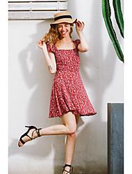 Modèles d'explosion aliexpress printemps et été femmes robe sexy slim back dentelle floral