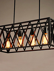 4 Light Nordic Creative Personality Retro Lighting Restaurant Lights Bar style Iron industry Chandelier for Living Room