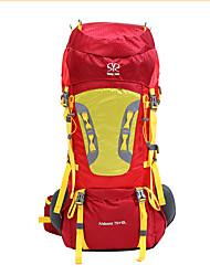 75 L Заплечный рюкзак рюкзак Многофункциональный Красный