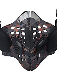 polvo neblina antivaho de moda personalizada de la música del bluetooth inteligente hueso máscara llamada de soporte de conducción