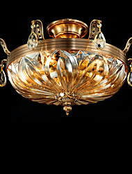 Full Copper Classic Crystal Ceiling Lamp