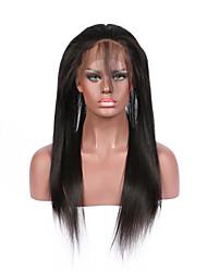 fechamento frontal 360 lace - cabelo virgem brasileiro reta - linha fina natural - nós levemente clareado com cabelo do bebê - banda