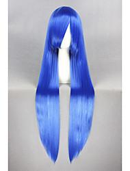 Long Straight Lucky Star-Izumi Konata Blue 40inch Anime Cosplay Wig CS-211A