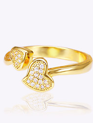 Fashion Heart Rings Jewelry For Wedding Engagement Gift 1pc