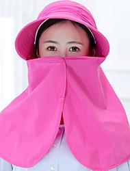 Mujer Verano Casual Poliéster Sombrero para el sol,Un Color
