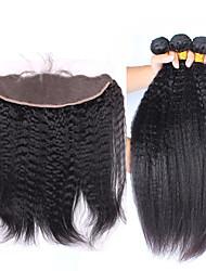 Um Pacote de Solução Cabelo Brasileiro 12 meses 4 Peças tece cabelo