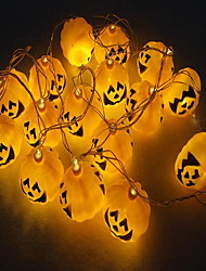 2 pcs halloween 16 blocos de luzes de abóbora