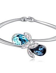 Mulheres Bracelete Jóias Amizade Moda Cristal Liga Forma Geométrica Branco Azul Escuro Vermelho Azul Rosa claro Jóias ParaFesta