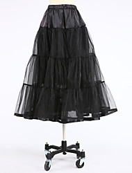 Slips Ball Gown Slip Tea-Length 2 Tulle White Black Red