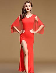 Devemos vestidos de dama da barriga Mulheres Performance Tulle Calções de vestido modal