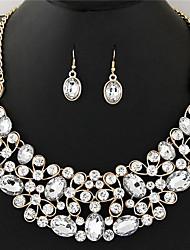 Ensemble de bijoux Cristal Strass Cristal Strass Alliage Mode Vintage euroaméricains BijouxNoir Bleu de minuit Arc-en-ciel Jaune Clair