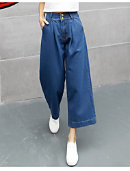 Cool Spring 2017 explosion models fibers coming loose jeans wide leg pants