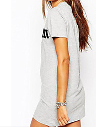 chaud nouveau coton imprimé simple mode ebay manches courtes T-shirt sexy longue section t-shirt
