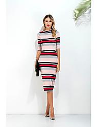 знак торговли новый европейский пакет хип тонкий с короткими рукавами платье длинный отрезок