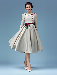 The new spring and autumn elegant literary big skirt dress gentle nostalgia