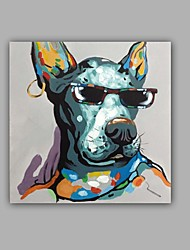 100% Hand-Painted Abstract / Animal Dog Hang-Painted Oil PaintingModern / Classic One Panel Canvas Oil Painting For Home Decoration