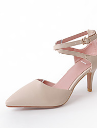 Women's Sandals Summer Club Shoes Comfort Leatherette Wedding Casual Stiletto Heel Buckle