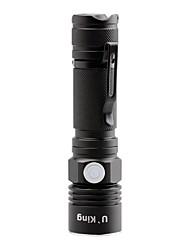 U'King Lanternas LED LED Lumens 3 Modo Cree XP-E R2 Baterias não incluídas Foco Ajustável Tamanho Compacto Clipe Tamanho Pequeno para