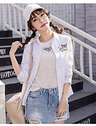 assinar 2017 Primavera camisa de algodão bordado de garantia de qualidade fresco fêmea pequena nova