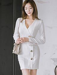 2016 femmes d'automne&# 39; nouveau coréen ol mince dames sac profession manteau de robe sexy de la hanche