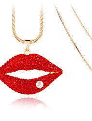 Women's Pendant Necklaces Crystal Chrome Love Euramerican Fashion Adorable Jewelry For Wedding Party Birthday Congratulations 1pc