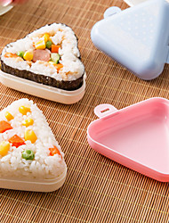 2 Rice Balls Sushi Tool For Cooking Utensils Rice Plastic Creative Kitchen Gadget High Quality Multifunction(Random Color)