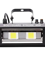 U'king 40w controle de som 2 leds branco lâmpada estroboscópica iluminação lâmpada para disco festa dj home música show projetor