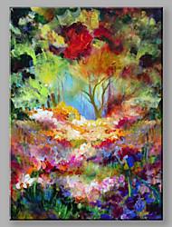 Pintados à mão Paisagens Abstratas Vertical,Moderno 1 Painel Tela Pintura a Óleo For Decoração para casa