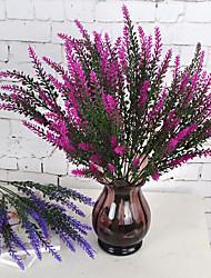 1 Ramo Plástico Lavanda Flor de Mesa Flores artificiais 37.5*8.5