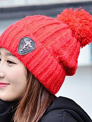 Mujer Todas las Temporadas Casual Punto Sombrero de Ski,Un Color