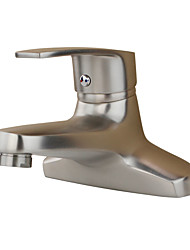 Country Art Deco/Retro Modern Standard Spout Centerset Widespread with  Ceramic Valve Single Handle Two Holes for  Stainless Steel ,