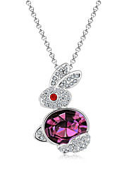 Women's Pendant Necklaces Crystal Chrome Animal Design Fashion Personalized Cute Style Jewelry For Wedding Party Congratulations