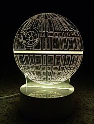 3D символ / рисунок Светодиодная лампа светящиеся ночные огни для детской комнаты декоративные лампы дистанционного управления USB света