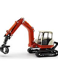 Veiculo de Construção Brinquedos Brinquedos de carro 01:50 Metal Plástico Vermelho Modelo e Blocos de Construção