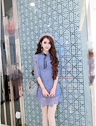 Sign soluble lace dress