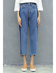 Sign Korean loose BF wind hit the color thin jeans female small harem pants pants collapse